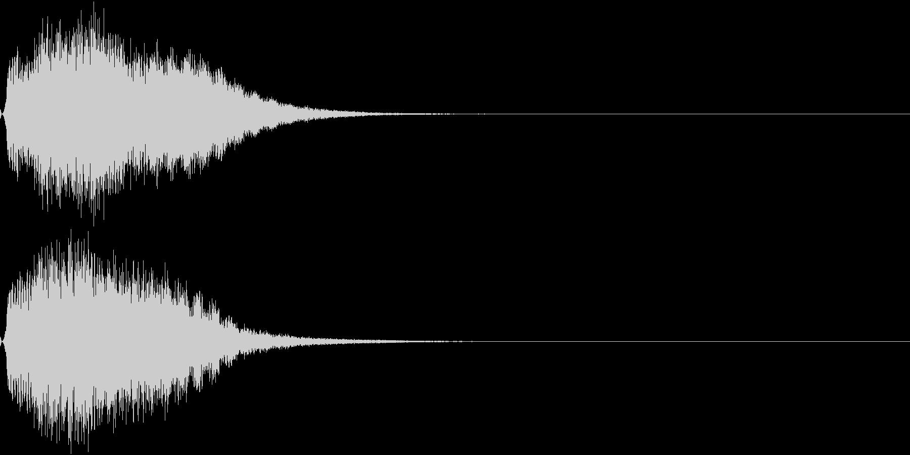 光 キュイン 目立つ カットイン 13の未再生の波形