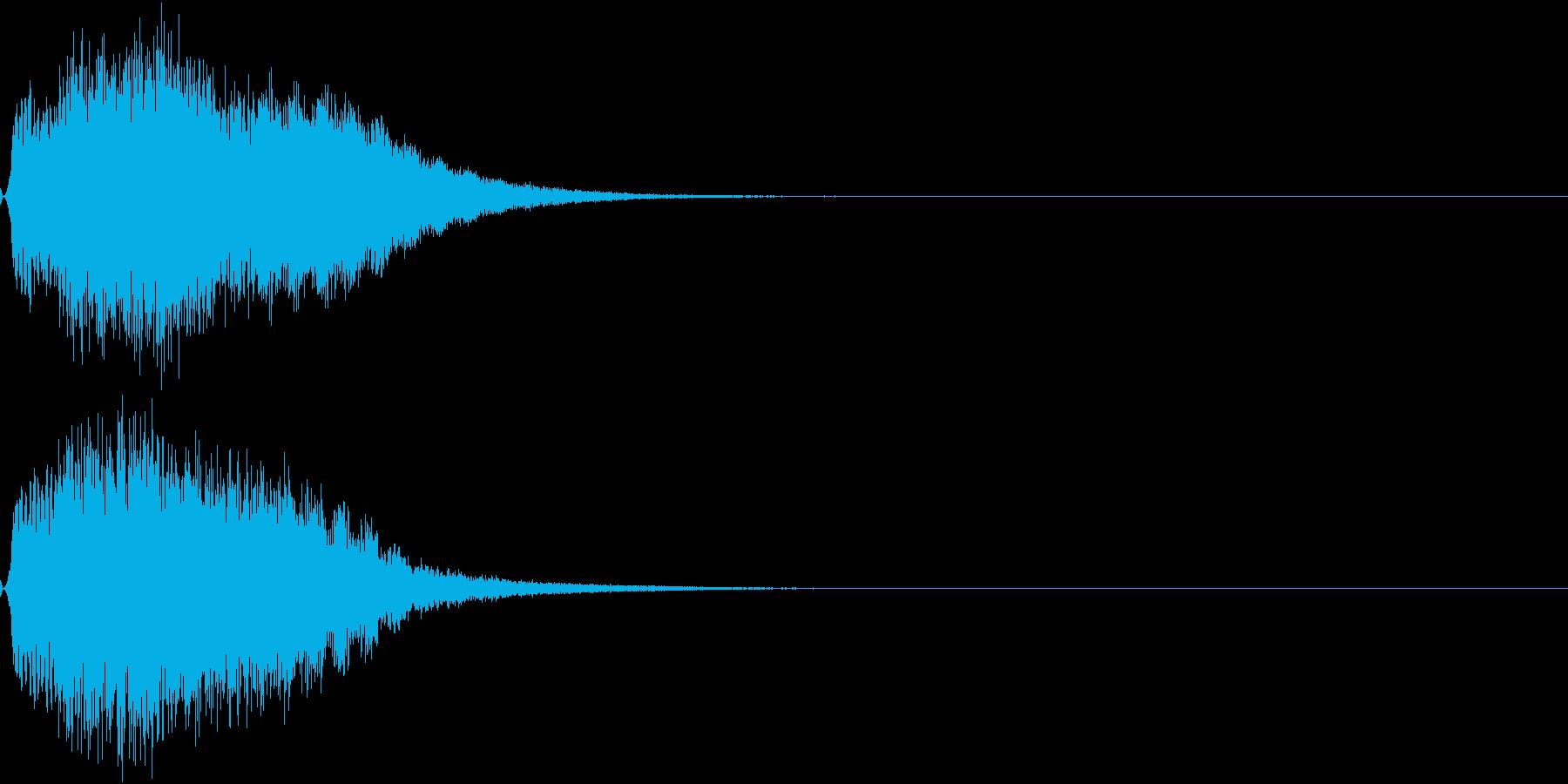 光 キュイン 目立つ カットイン 13の再生済みの波形