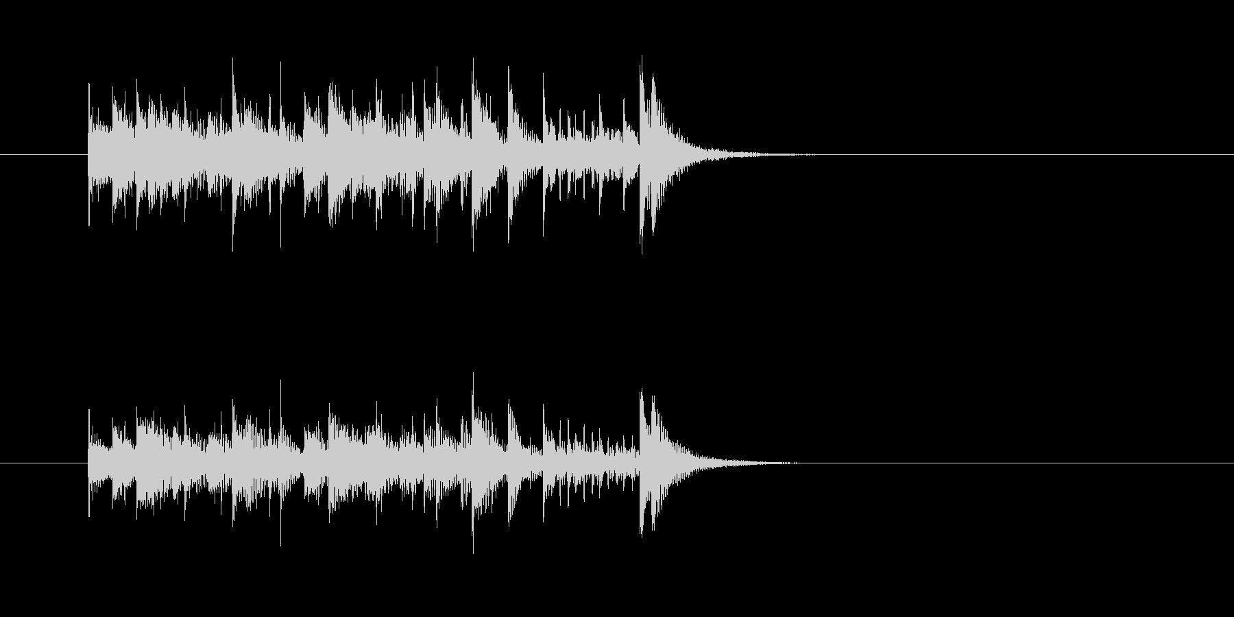 コミカル マリンバ 楽しい わくわくの未再生の波形