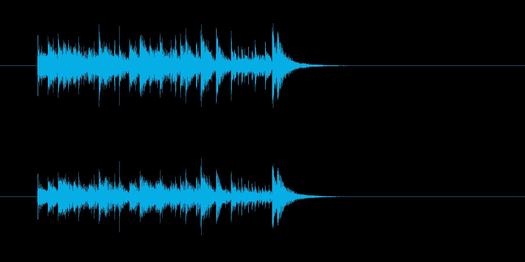 コミカル マリンバ 楽しい わくわくの再生済みの波形