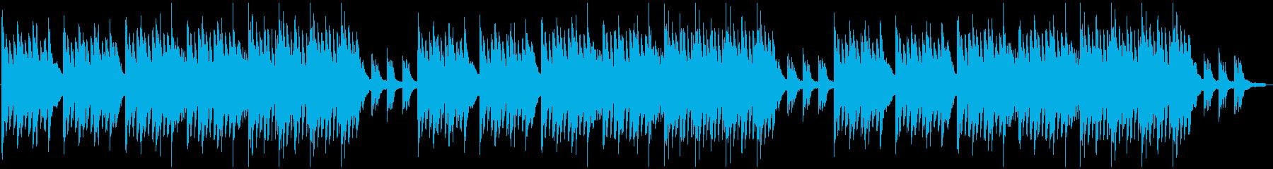 ゆったりした美しいシンプルなピアノ曲の再生済みの波形