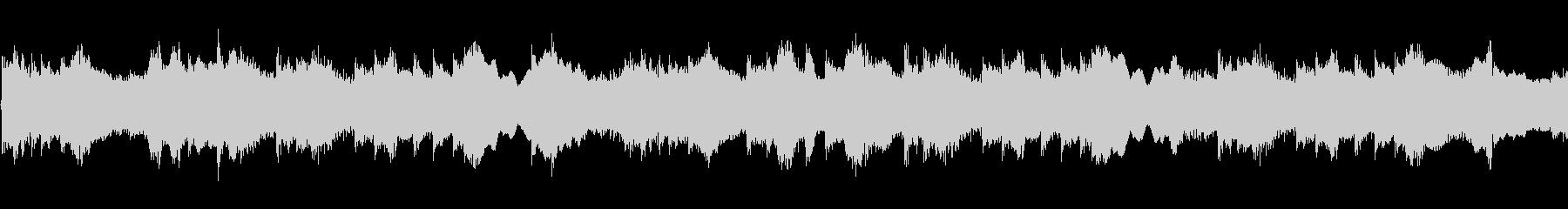 和風な旋律のゆったりとしたループBGMの未再生の波形