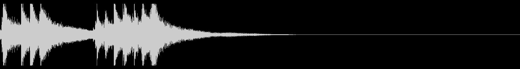 お琴の定番ジングル04の未再生の波形
