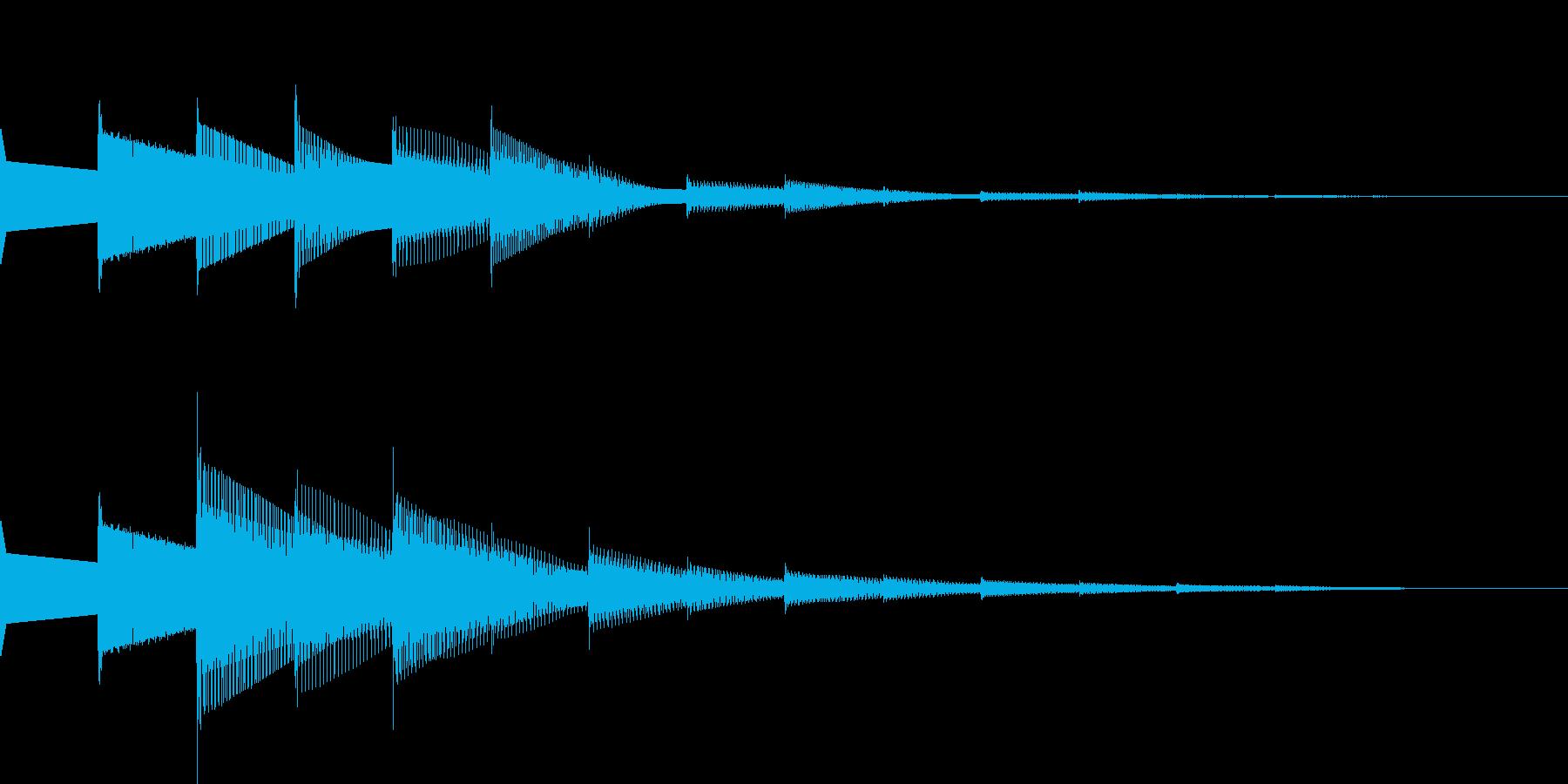 ピロポン(ピコピコ/回復/チャイム/魔法の再生済みの波形