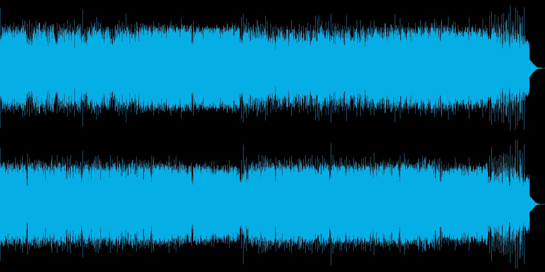 明るく壮大で疾走感のあるメロディアスな曲の再生済みの波形