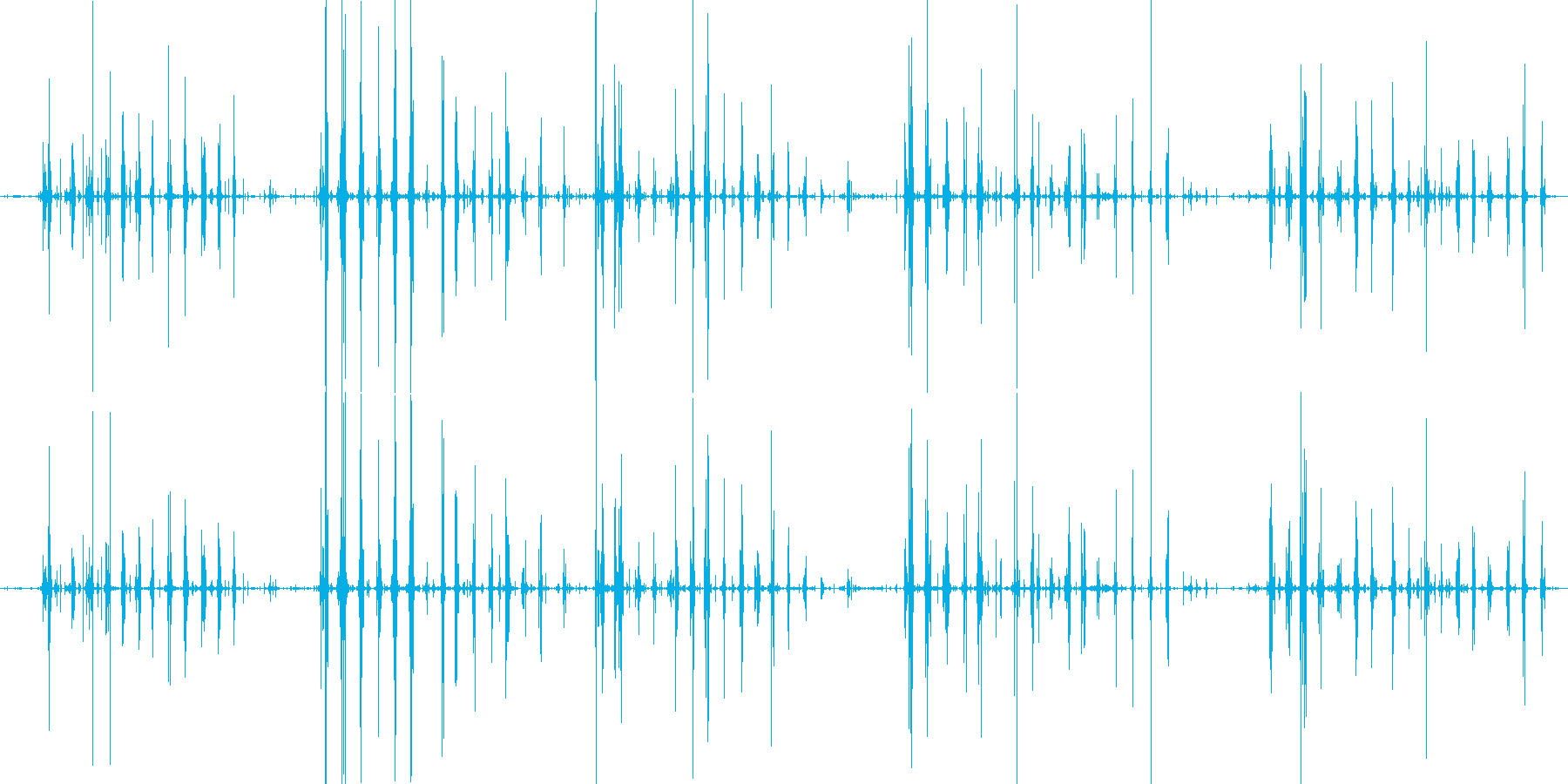 コリコリポリポリ サザエ咀嚼音の再生済みの波形