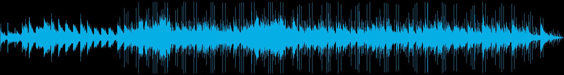 海の中をイメージしたピアノとイルカの声の再生済みの波形