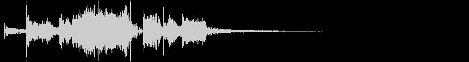 シンプルなジングル。ホーンセクションの未再生の波形