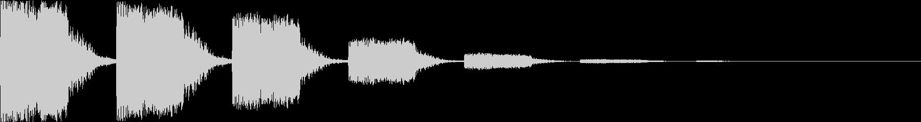 キュイーン:レトロなワープ音・瞬間移動eの未再生の波形