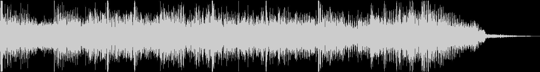シンプルなロック調ショートイントロの未再生の波形