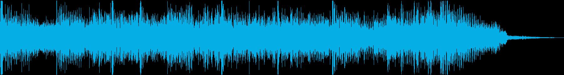 シンプルなロック調ショートイントロの再生済みの波形