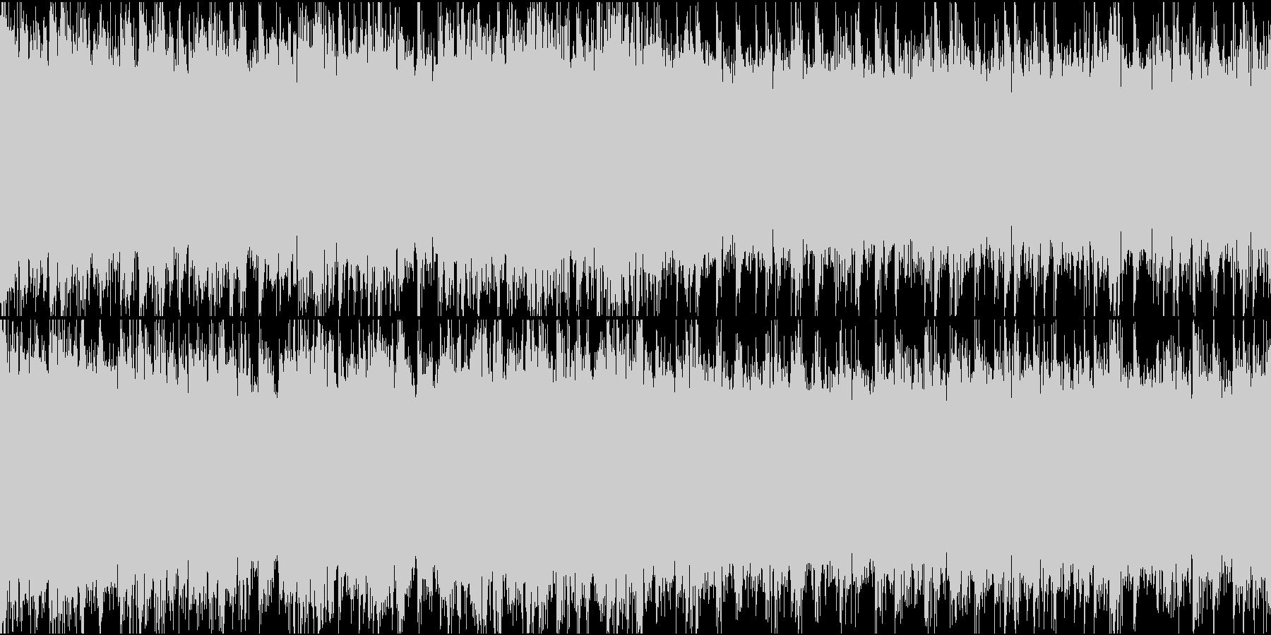 近未来的雰囲気の疾走感あるドラムンベースの未再生の波形