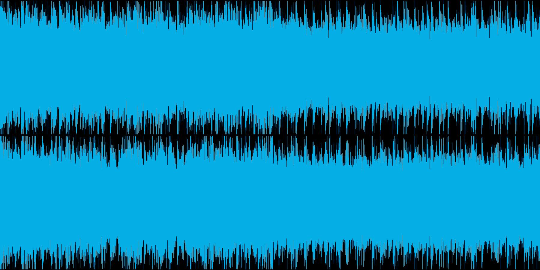近未来的雰囲気の疾走感あるドラムンベースの再生済みの波形