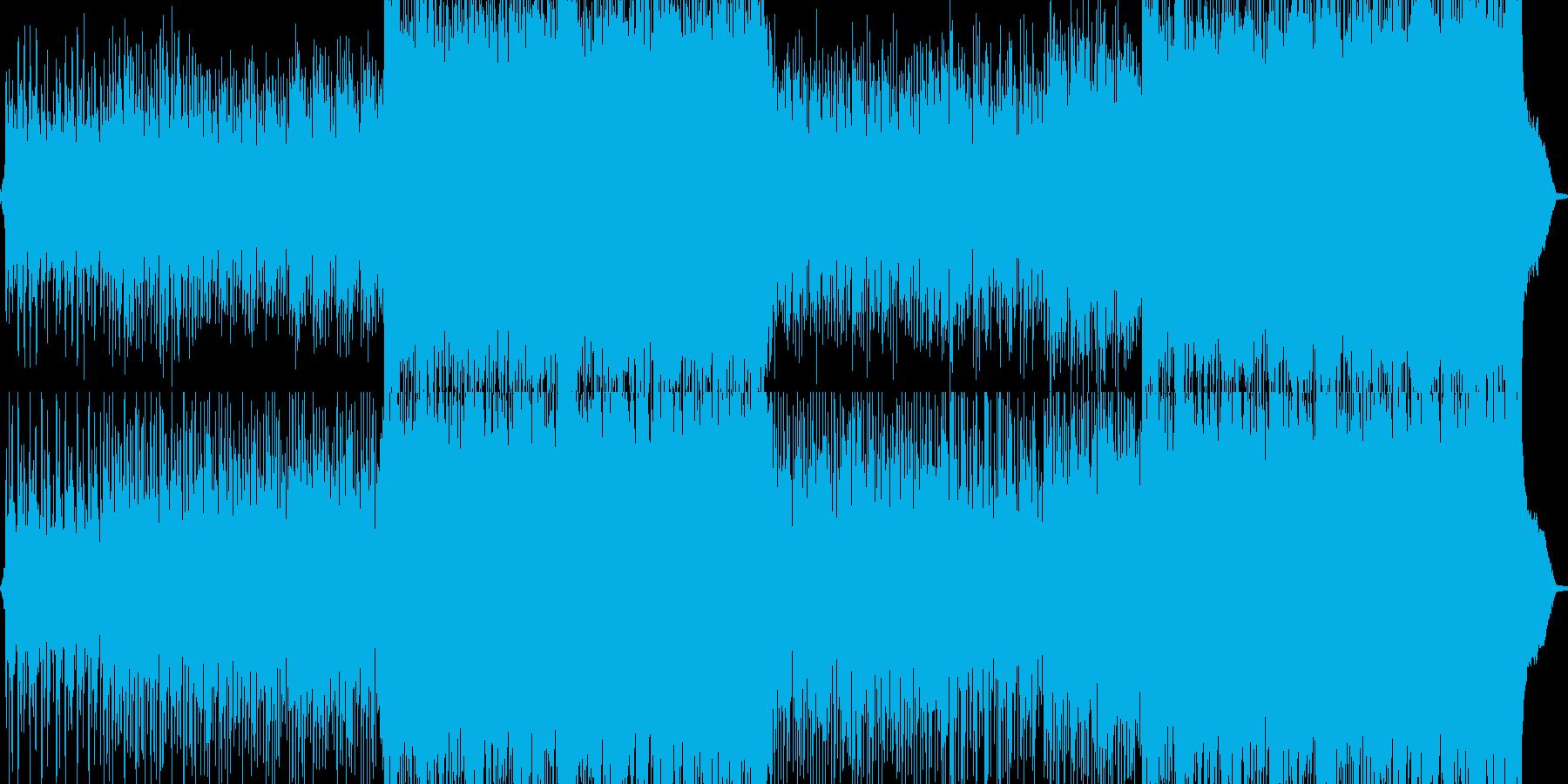 力強くてかっこいいメロディーの再生済みの波形