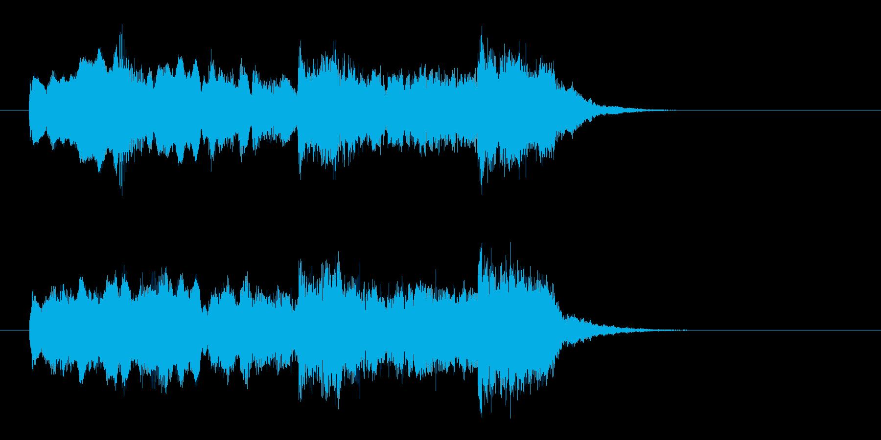 壮大でオリエンタルなBGMの再生済みの波形