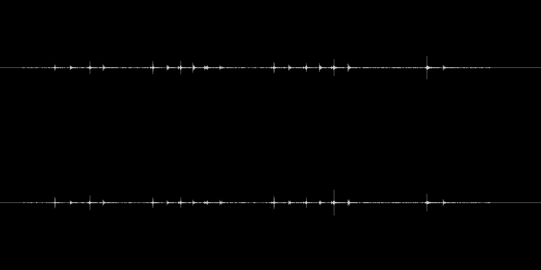 チョキチョキ(はさみ)の未再生の波形