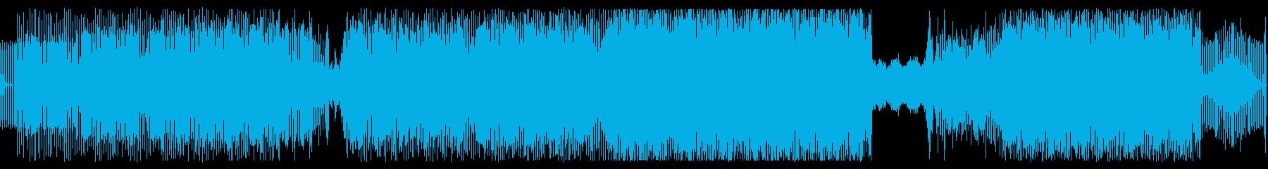 シンセSEQのきれいなテクノの再生済みの波形