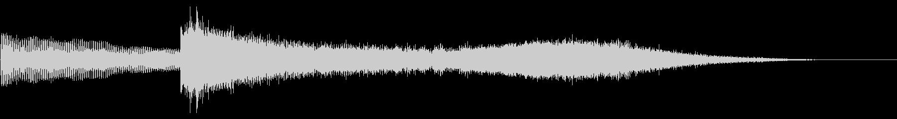 レーザートレイルで華麗な低音ノートの未再生の波形