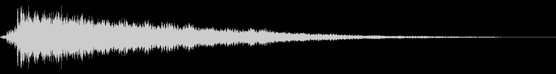 ホラー系アタック音74の未再生の波形