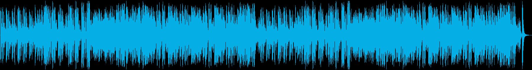 オーケストラの明るい序曲の再生済みの波形