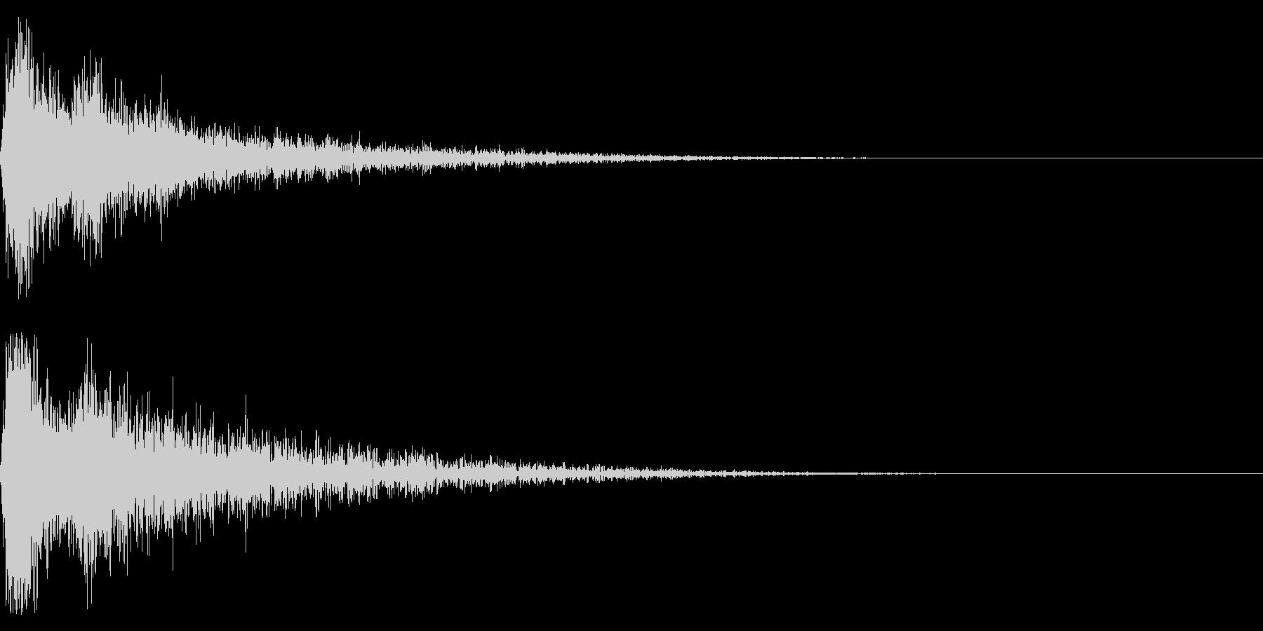 ドーン-55-2(インパクト音)の未再生の波形