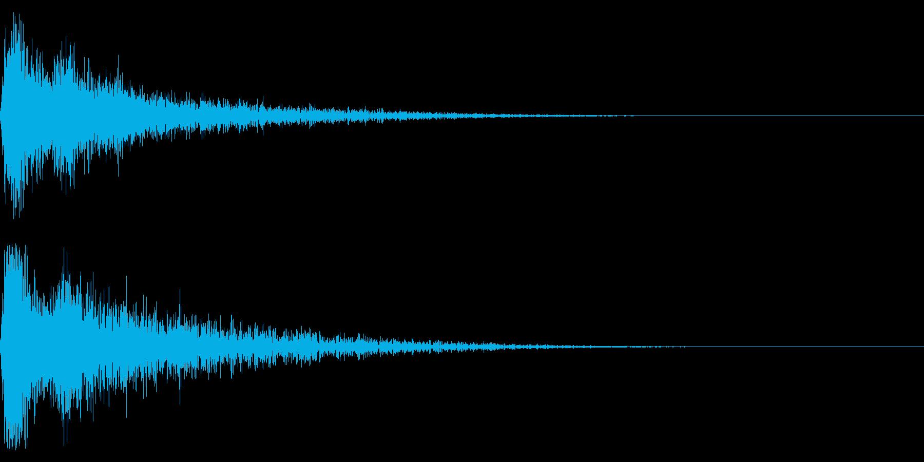 ドーン-55-2(インパクト音)の再生済みの波形