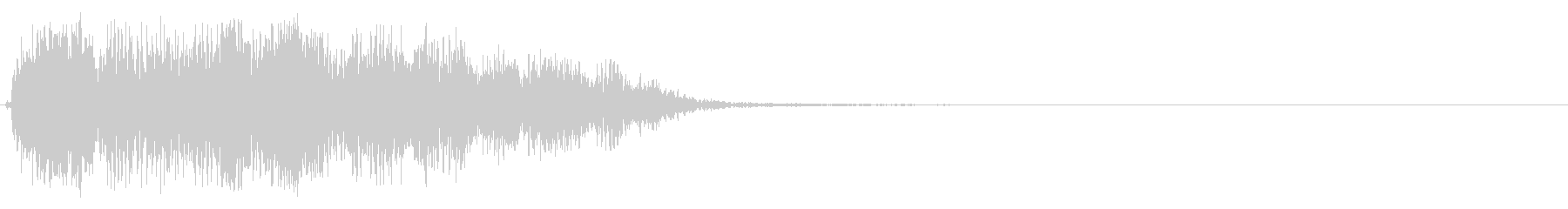 バァーン(空間の広がりを感じる効果音)の未再生の波形