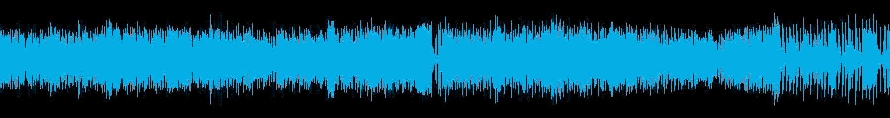 スマホゲー、ミニゲーム等に合うループ曲の再生済みの波形