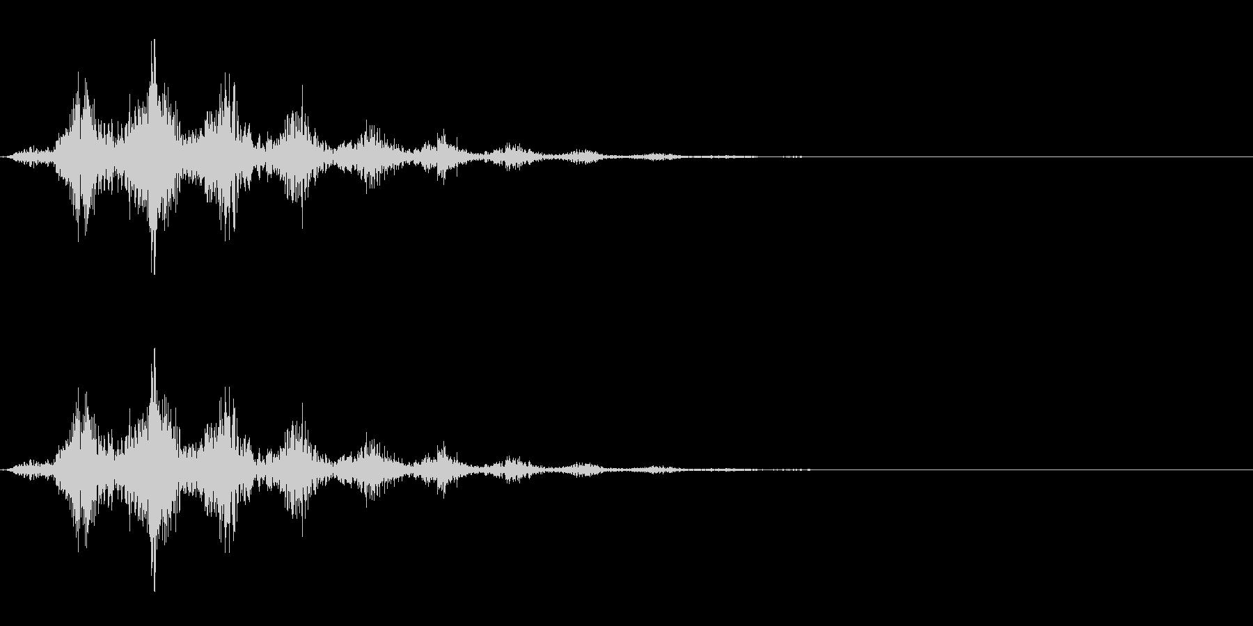 回転音/手裏剣/シュルルルルッの未再生の波形
