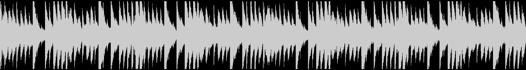 氷・雪を表現したエレクトロニカのループ曲の未再生の波形