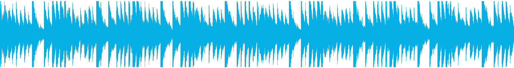 氷・雪を表現したエレクトロニカのループ曲の再生済みの波形