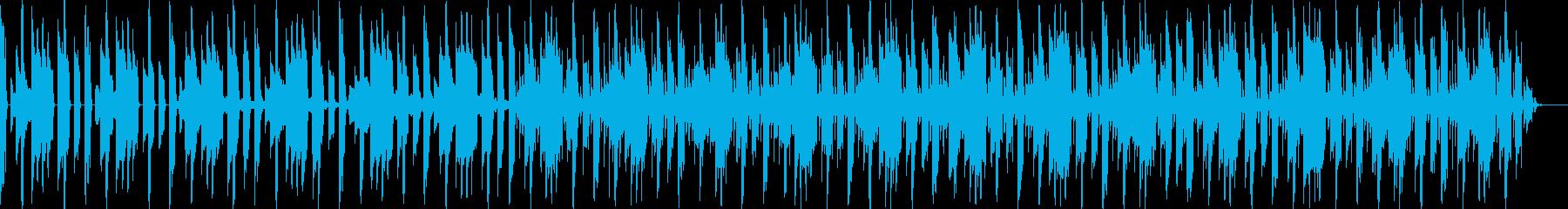 考えごと、もやもや、機械的な曲の再生済みの波形