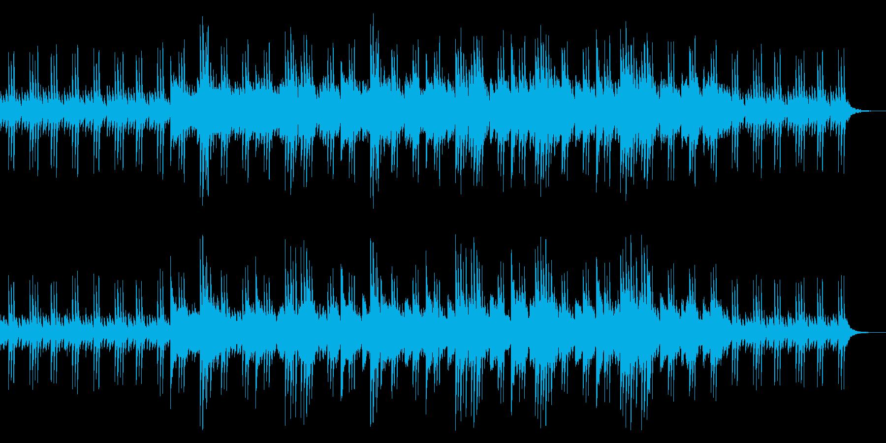 ゆったりとした癒しのリラックスBGMの再生済みの波形