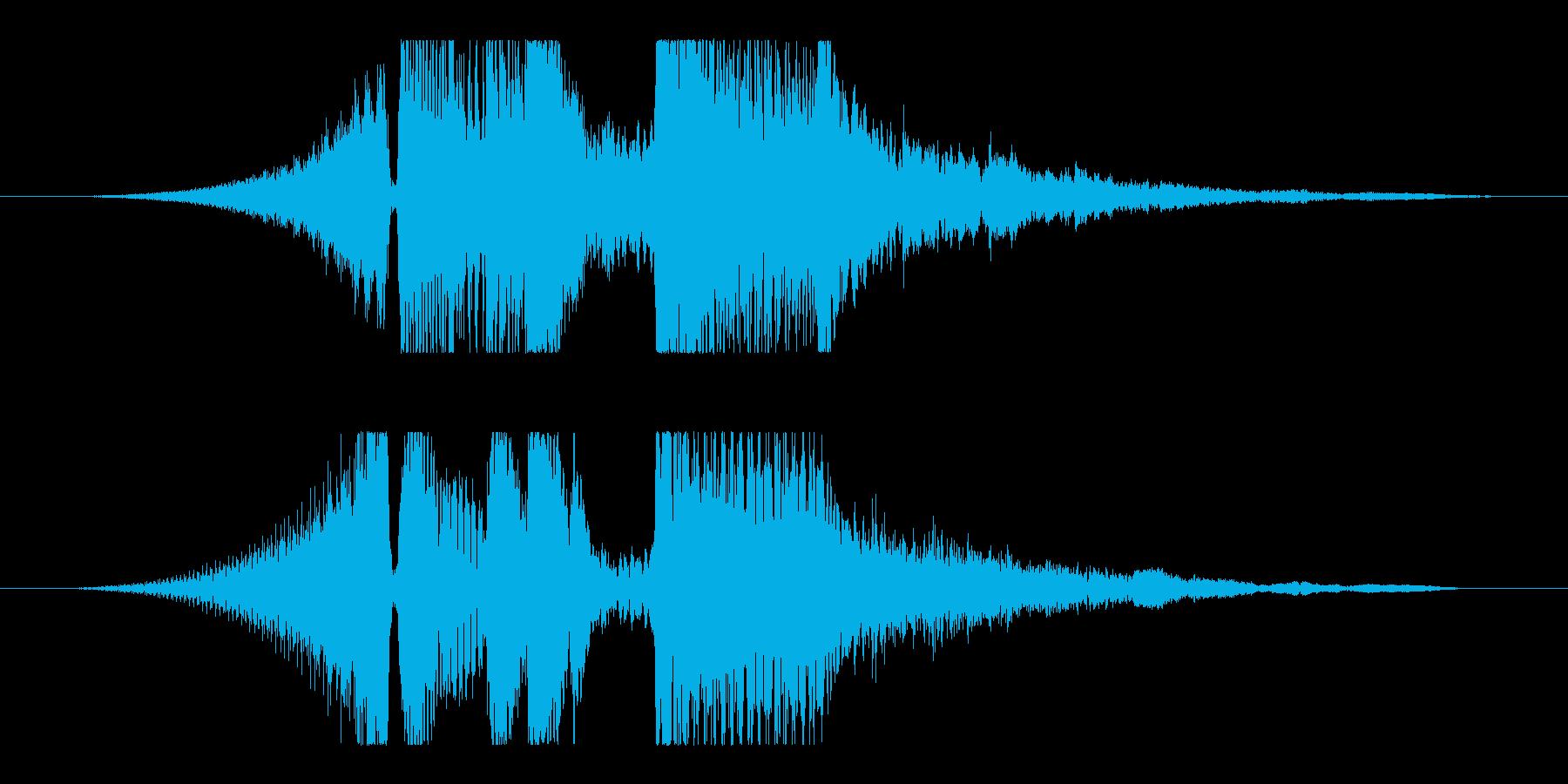 シンプルで温かいアコースティックギターの再生済みの波形