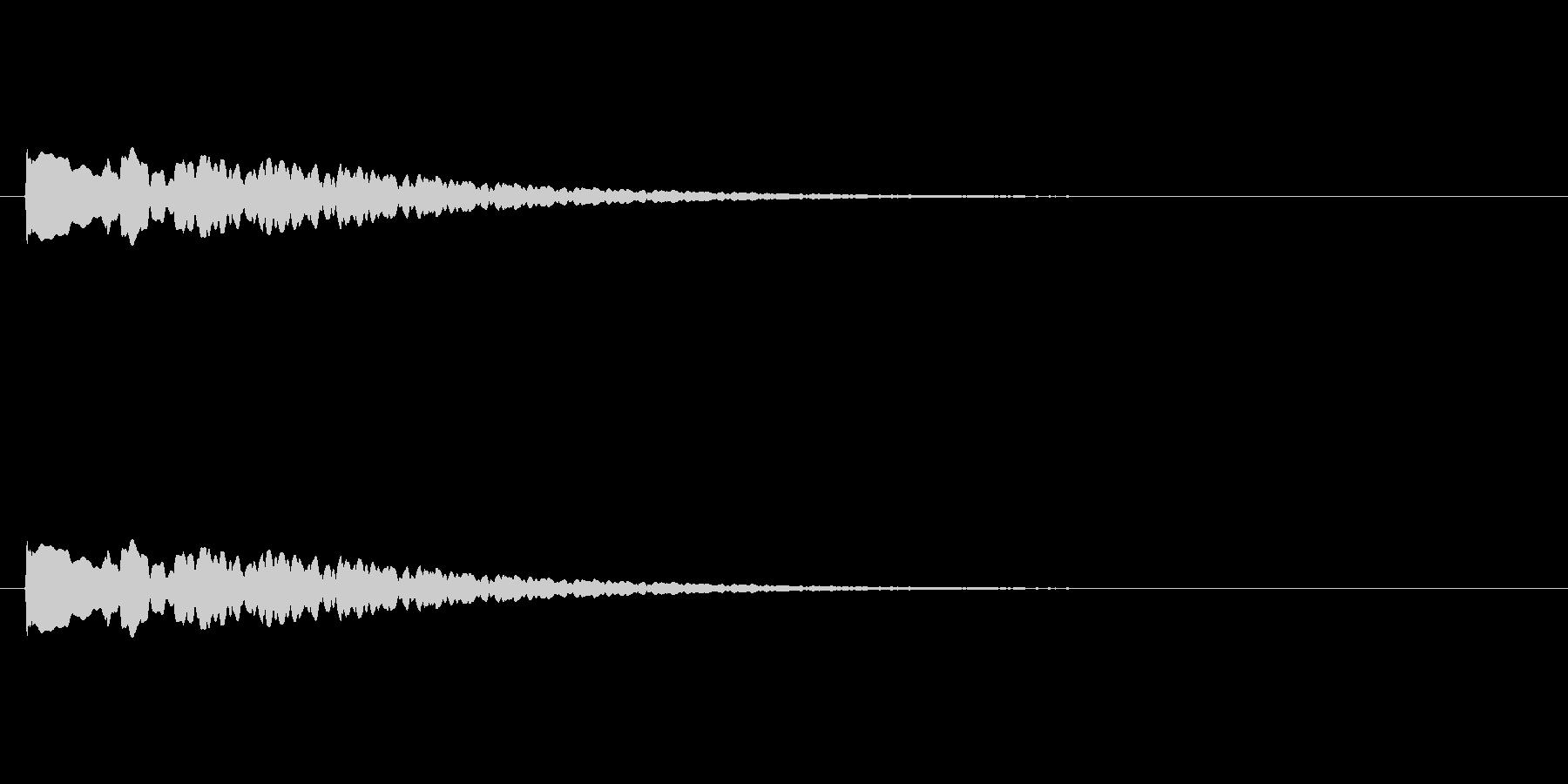 【アクセント19-4】の未再生の波形