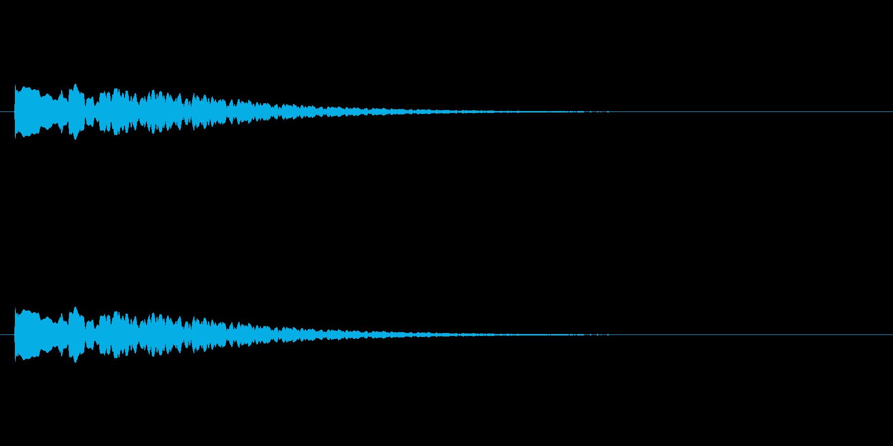 【アクセント19-4】の再生済みの波形