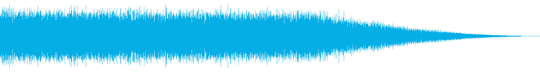 戦車の走行音/キャタピラの効果音05の再生済みの波形