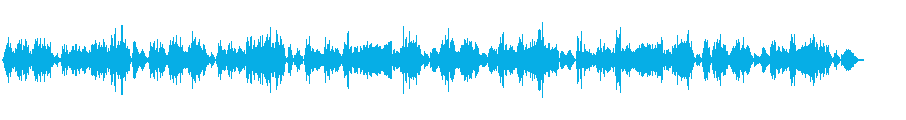 ブラームスのワルツをヴァイオリンソロでの再生済みの波形