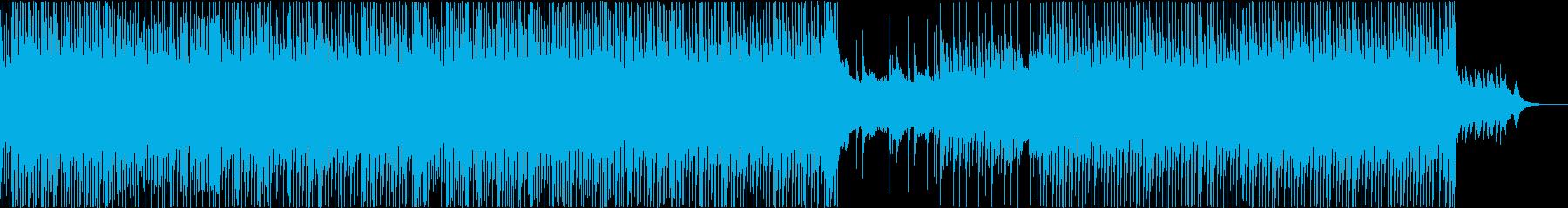 和風の三味線テクノポップ(アップテンポ)の再生済みの波形