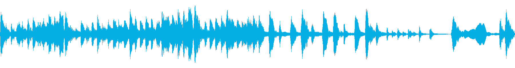 小編成ストリングスによる不気味なBGMの再生済みの波形