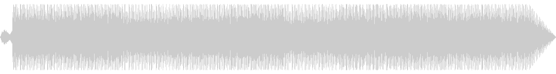 シンプルに繰り返すテクノ曲の未再生の波形