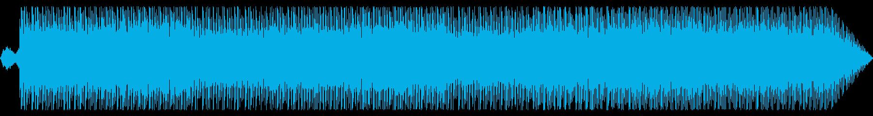シンプルに繰り返すテクノ曲の再生済みの波形