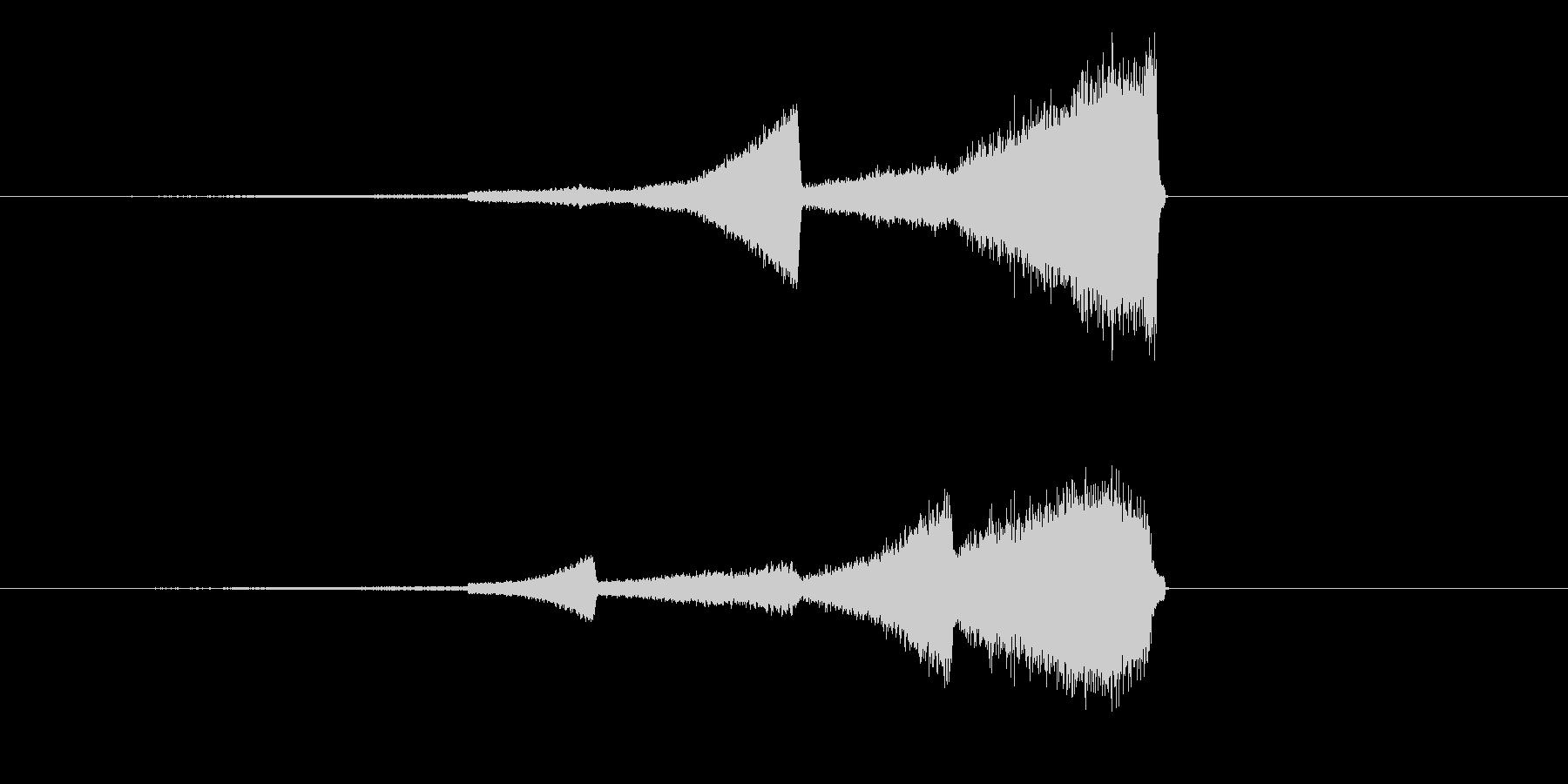ハイファイなフェードインの未再生の波形