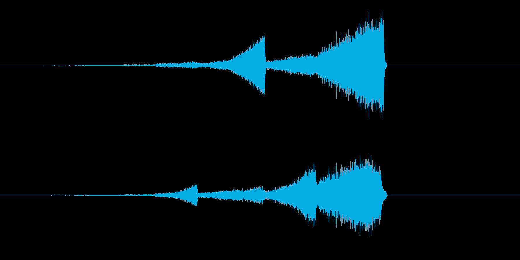 ハイファイなフェードインの再生済みの波形