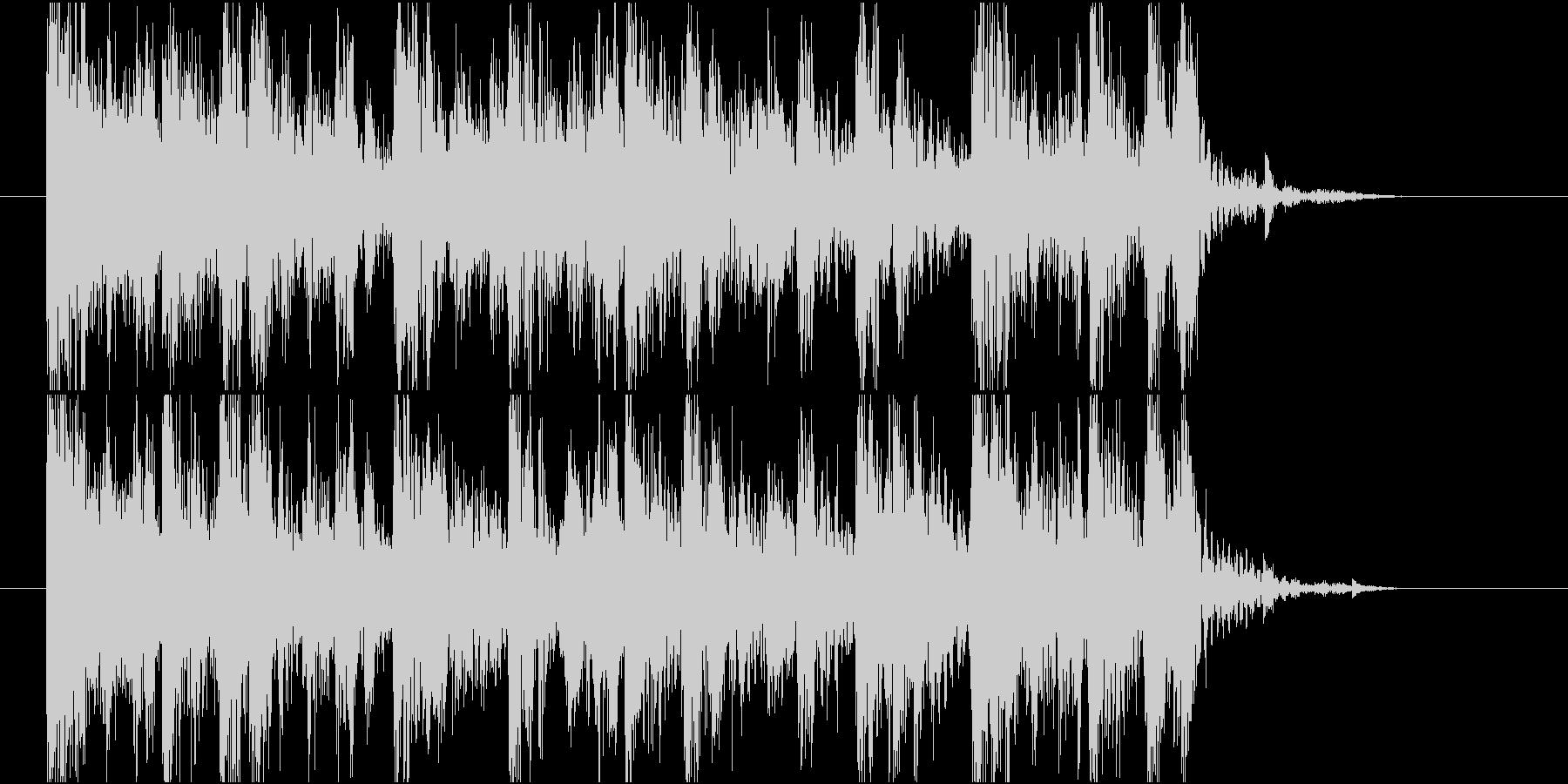 【ジングル】ギターとエレピの黒っぽい曲の未再生の波形