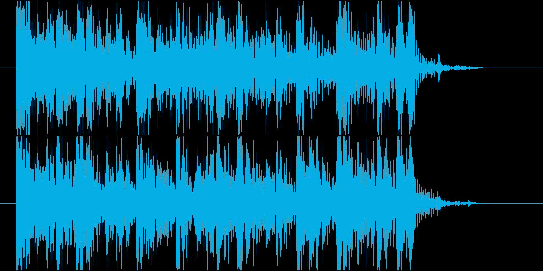 【ジングル】ギターとエレピの黒っぽい曲の再生済みの波形