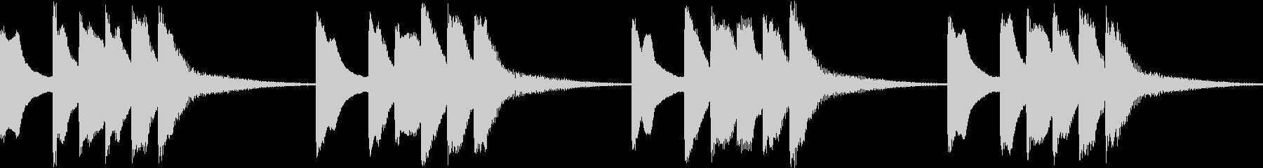 シンプル ベル 着信音 チャイム B10の未再生の波形