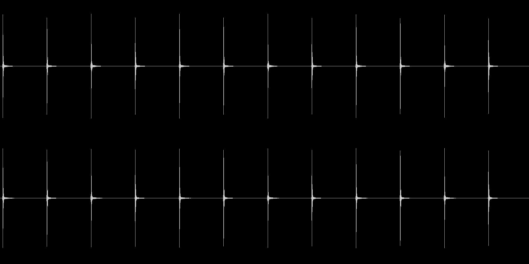振り子時計の秒針をループ仕様にしたものの未再生の波形