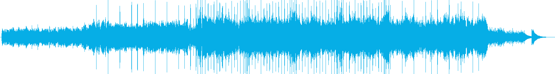 アイリッシュ風BGM(蛍の光)アレンジの再生済みの波形