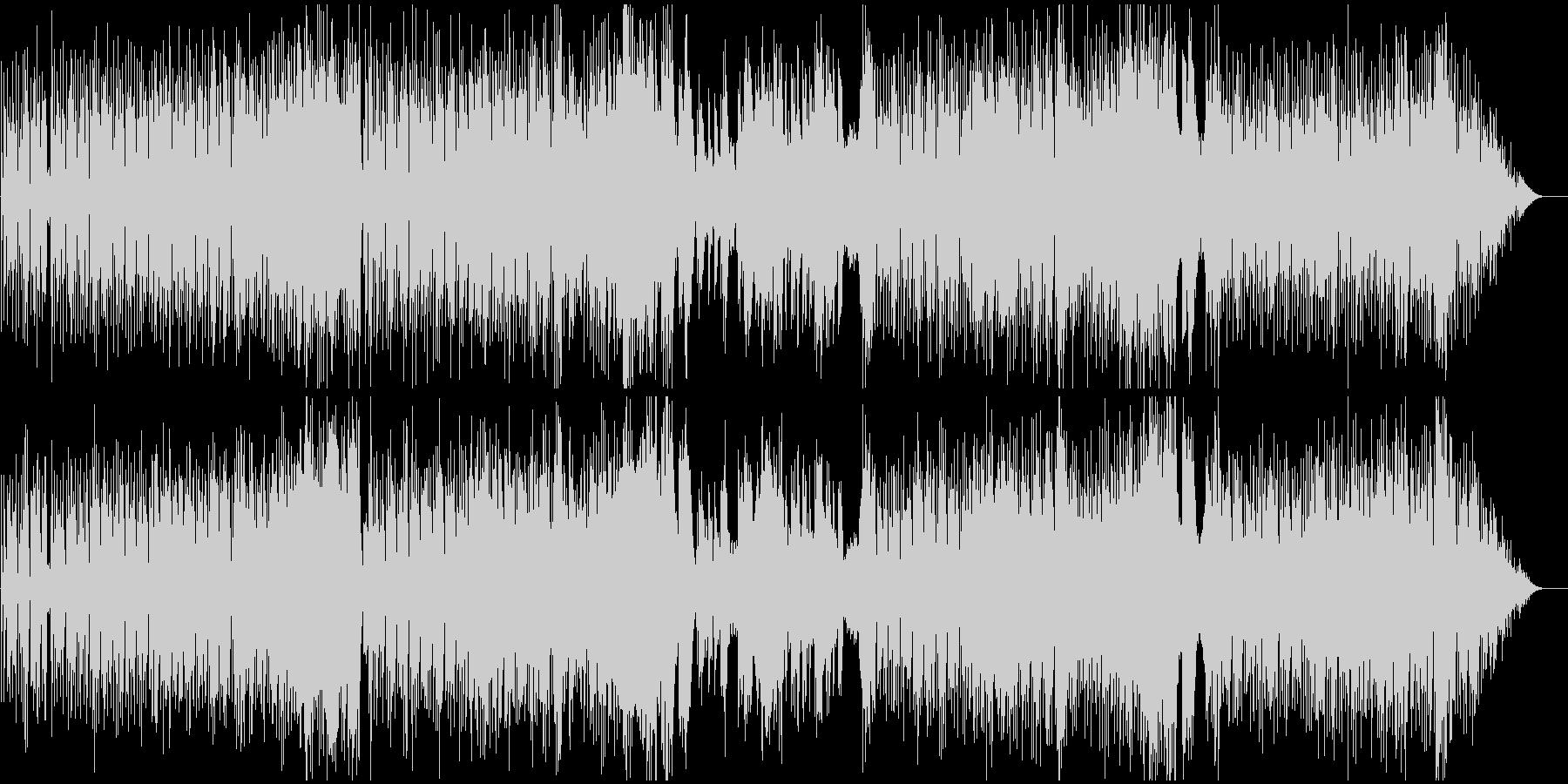 ハーフシャッフルフュージョンの未再生の波形